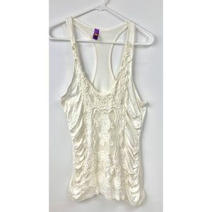 Sexy T-Back Thin Lace Tank Top Size Large New